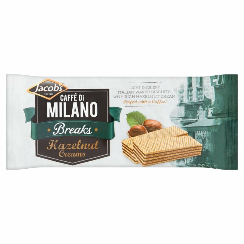 Jacob's Caffé Di Milano Breaks Hazelnut Creams 45g