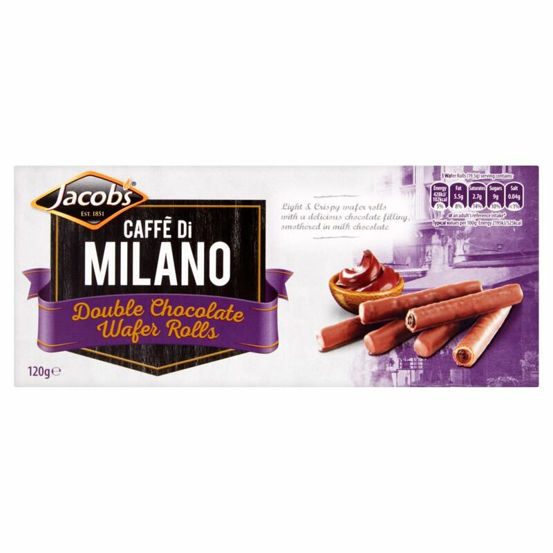 Jacob's Caffè di Milano Double Chocolate Wafer Rolls 120g