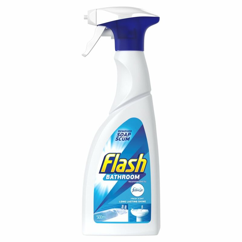 Flash Bathroom Spray Dissolves Grease And Leaves A Brilliant Shine 500ML
