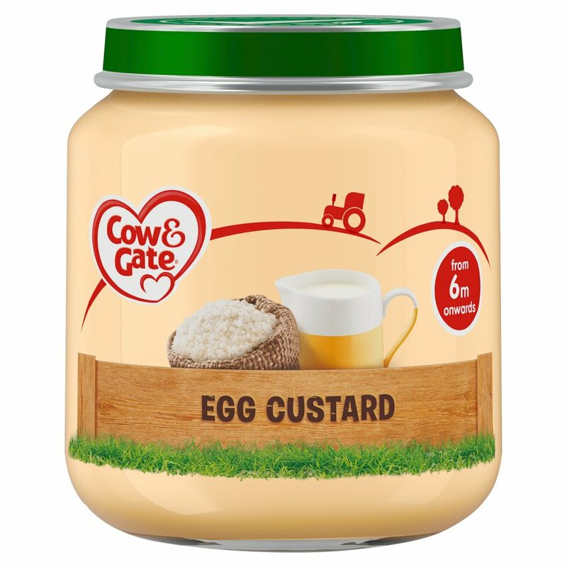 Cow & Gate Egg Custard from 6m Onwards 125g