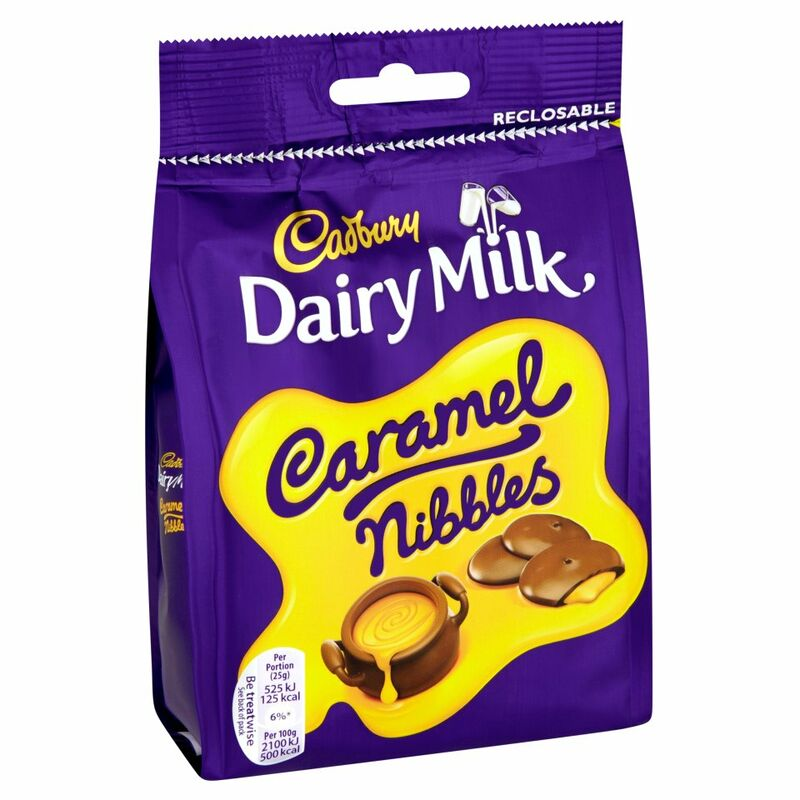 Cadbury Dairy Milk Caramel Nibbles Chocolate Bag 120g