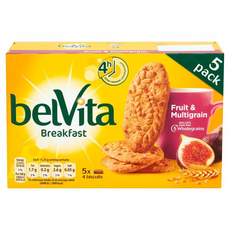 Belvita Breakfast Biscuits Fruit & Multigrain 5 Packs 225g