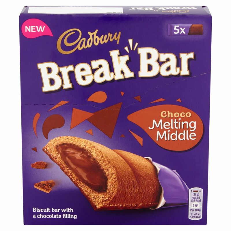 Cadbury Break Bar Melting Middle Chocolate 130g