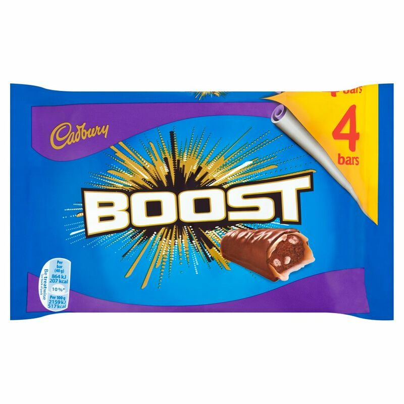 Cadbury Boost Chocolate Bar 4 Pack 160g