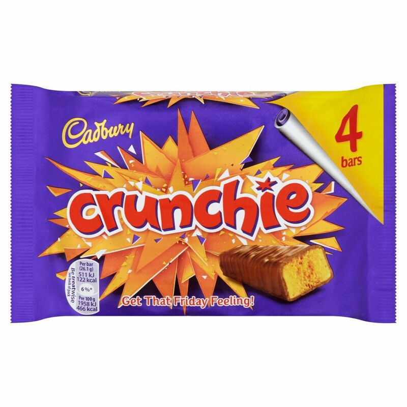 Cadbury Crunchie Chocolate Bar 4 Pack 104.4g
