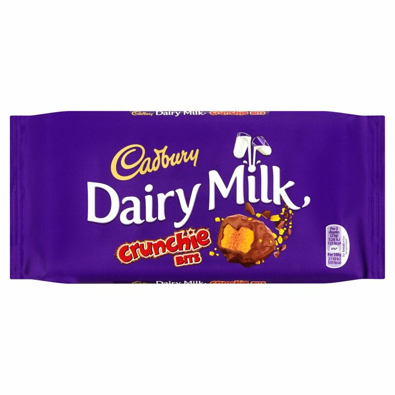 Cadbury Dairy Milk with Crunchie Bits Chocolate Bar 200g