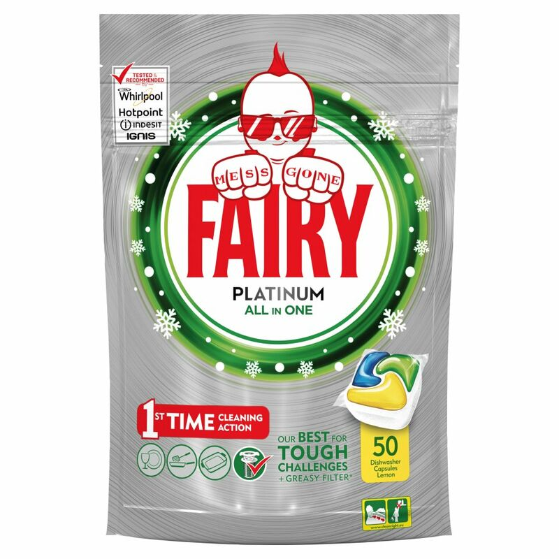Fairy Platinum Dishwasher Tablets Lemon 50 per pack