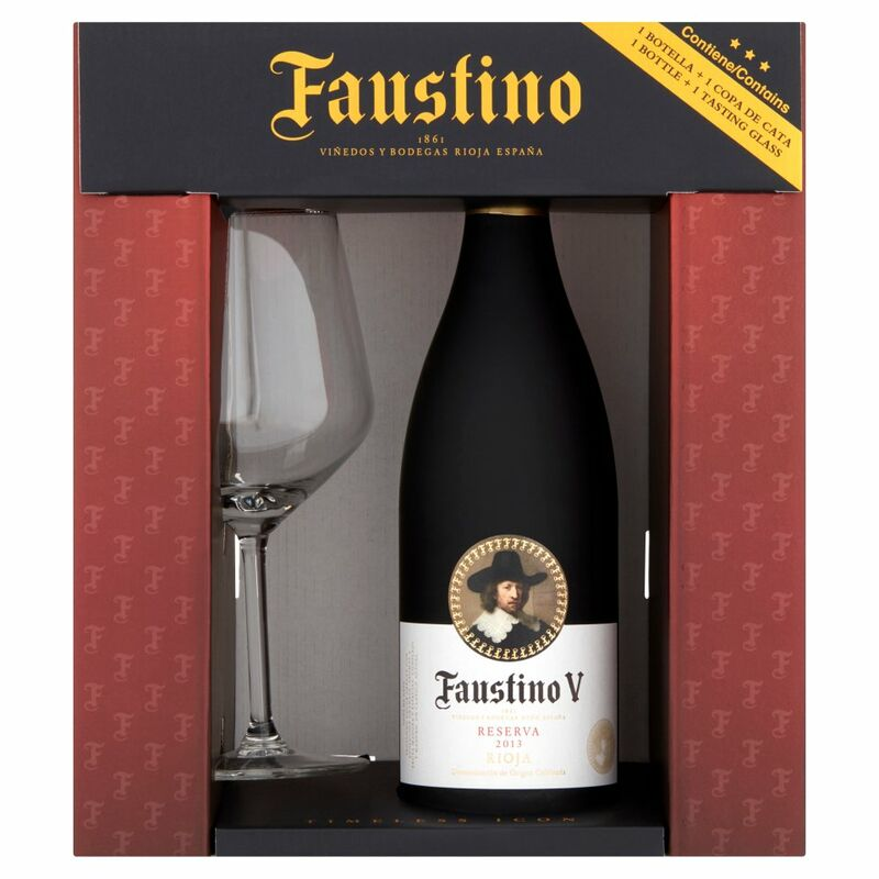 Faustino V Reserve Red Glass Gift Pack 75cl