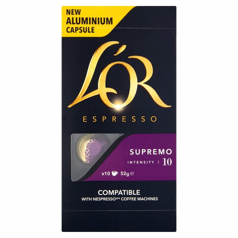 L'OR Espresso Forza, Intensity 9, 10 Aluminium Coffee Capsules