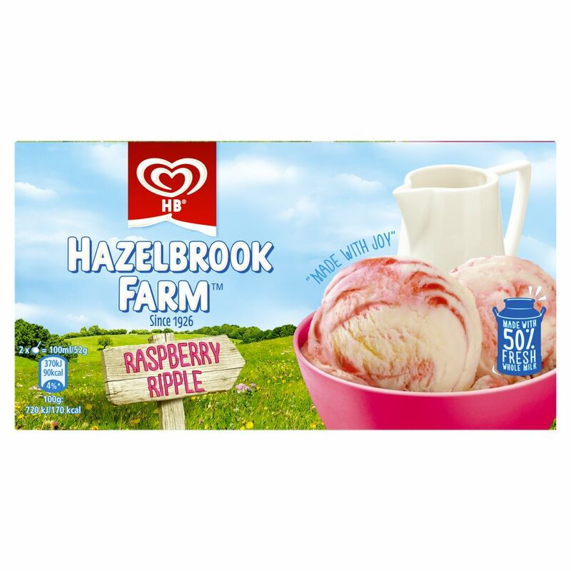 Hazelbrook Farm Raspberry Ripple Ice Cream Dessert 568ml