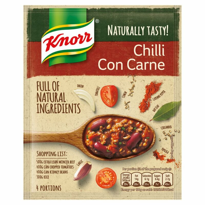 Knorr Naturally Tasty Chilli Con Carne Recipe Mix 64g