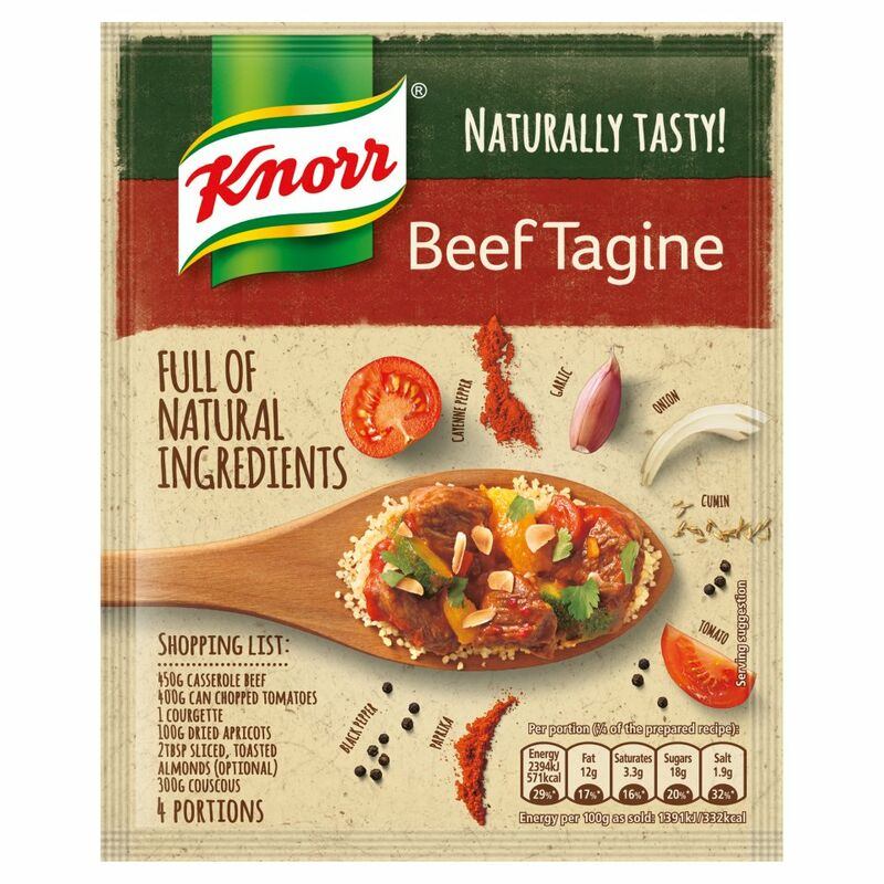 Knorr Naturally Tasty Beef Tagine Recipe Mix 63g