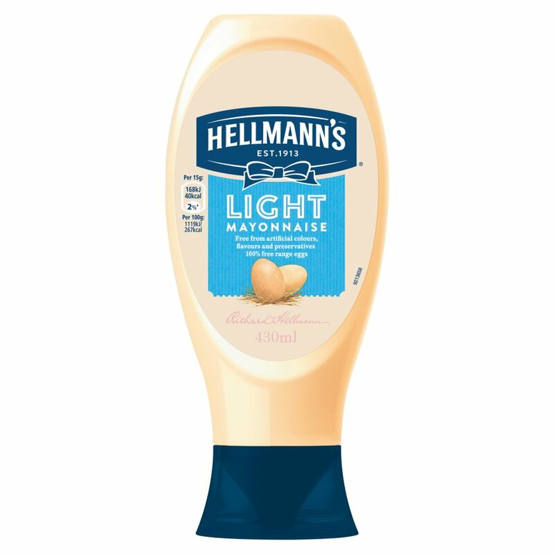 Hellmann's Squeezy Mayonnaise Light 430ml