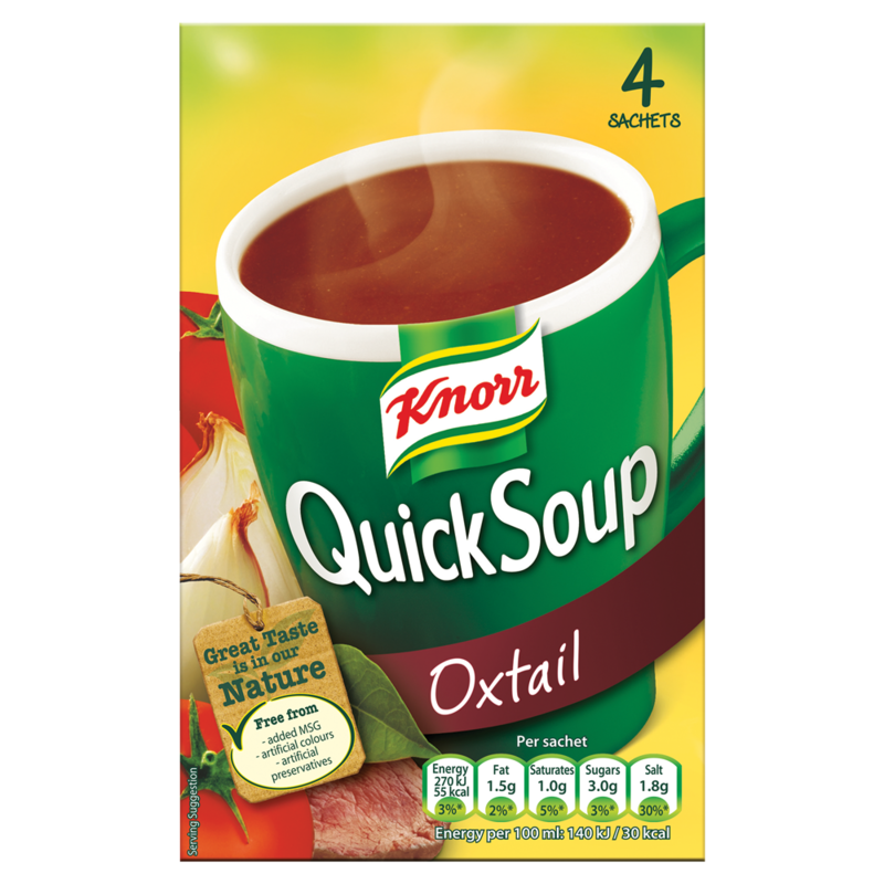 Knorr Quick Soups Oxtail 4 Sachets 56g