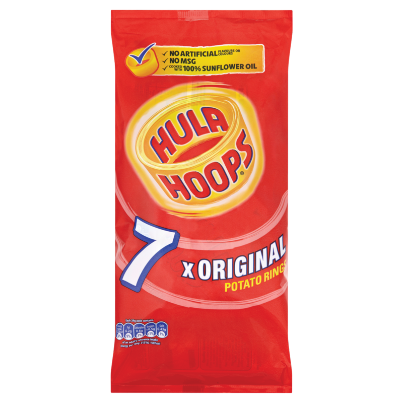 Hula Hoops Original Potato Rings 7 x 24g