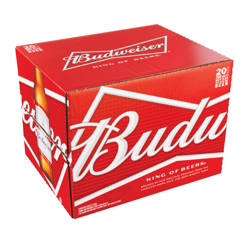Budweiser bottle 20 pack