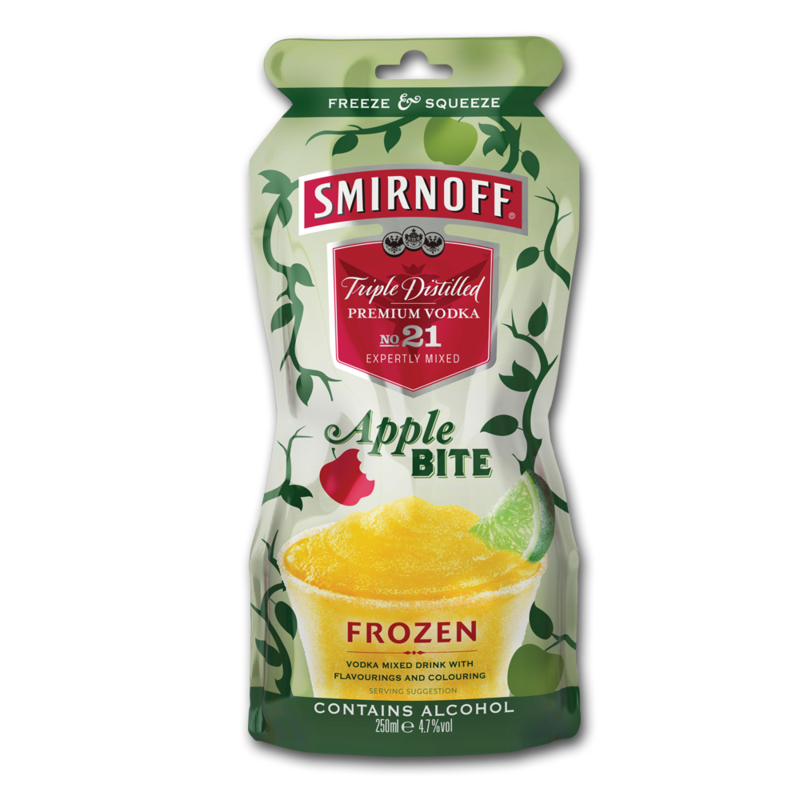 Smirnoff frozenPouch apple 250ml