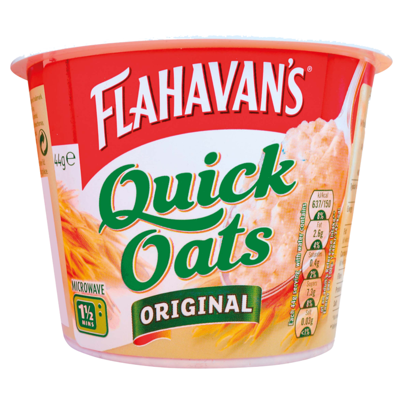 Flahavans Quick Oats Portable Porridge Original 44g