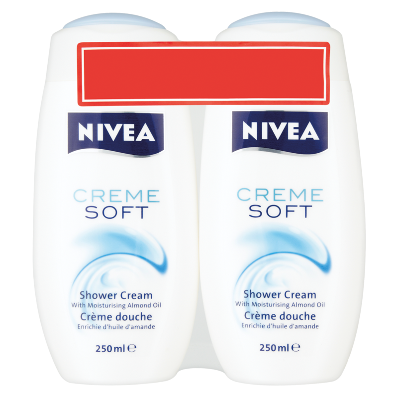 NIVEA Creme Soft Shower Cream 2 x 250ml
