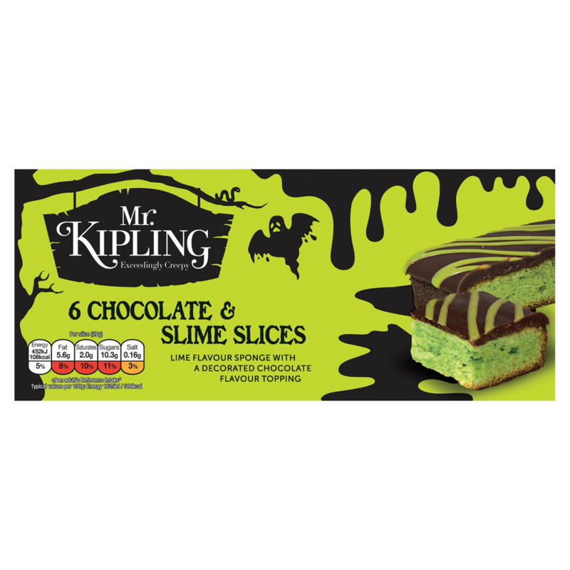 Mr. Kipling Exceedingly Creepy 6 Chocolate   Slime Slices
