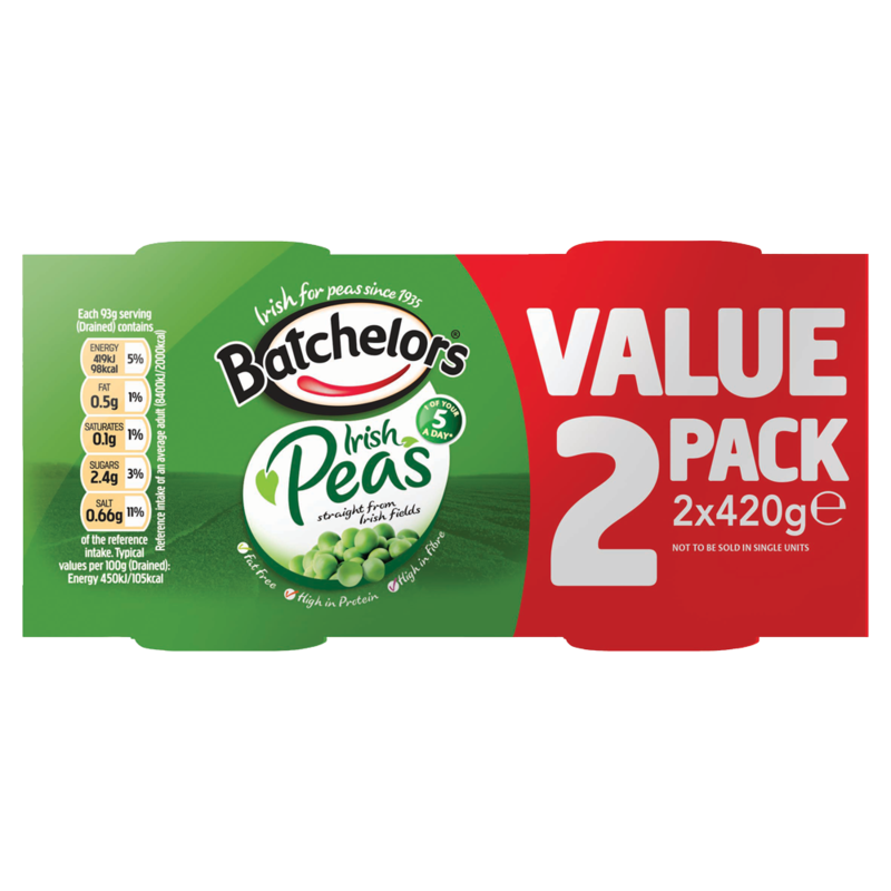 Batchelors Irish Peas 2 x 420g