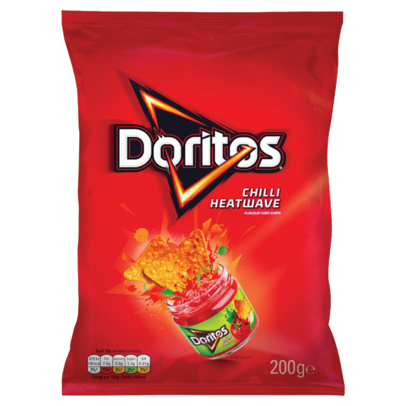 Doritos Chilli Heatwave Flavour Corn Chips 200g