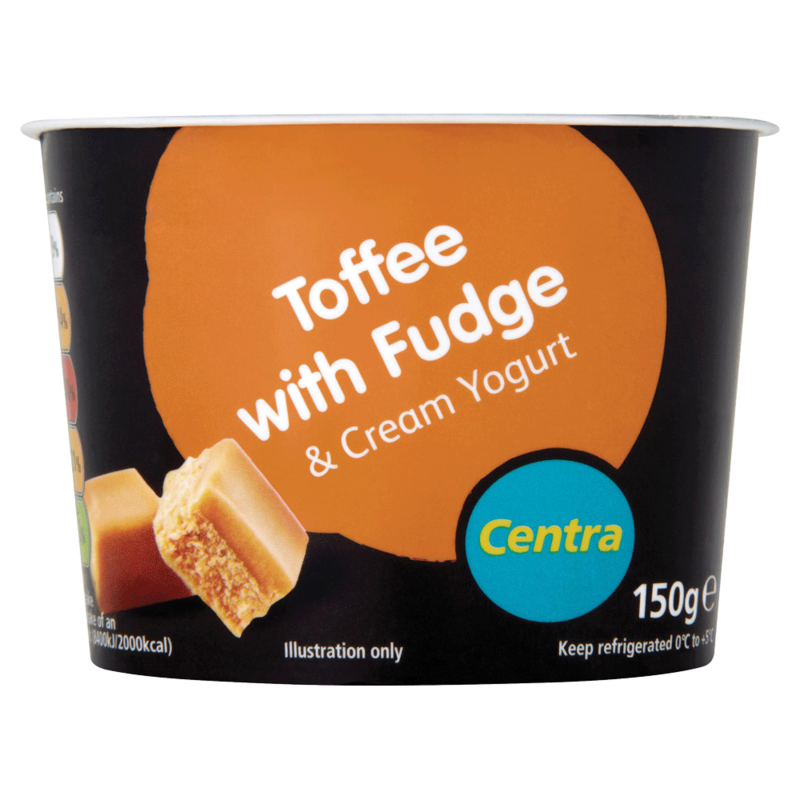 Centra Toffee with Fudge   Cream Yogurt 150g