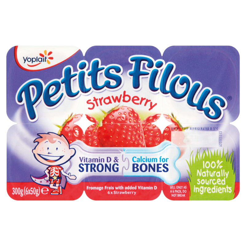 Yoplait Petits Filous Strawberry 6 x 50g 300g