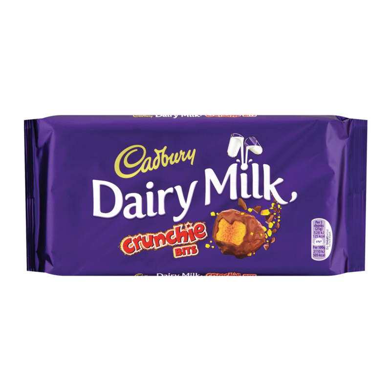 Dairy milk crunchie bits
