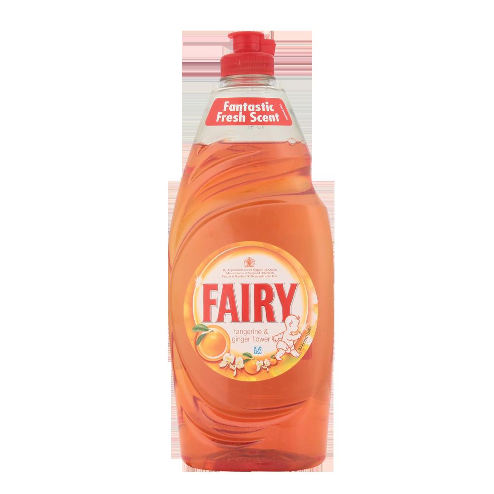 Fairy Tangerine & Ginger Flower Washing Up Liquid 630ml ...